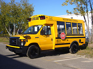 English: A 2010 Girardin MB-II school bus belo...