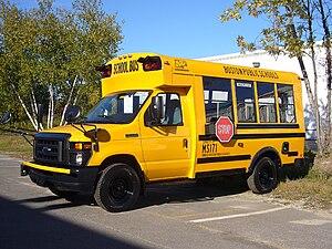English: A 2010 Girardin MB-II school bus belo...