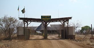 Mozambique–South Africa border - The smallest and youngest border crossing is Giriyondo in Kruger national park