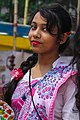 Girl wearing sari celebrating Pahela Baishakh in 2016, Agrabad (01).jpg