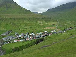 Village of Gjógv, 12 Aug 2003