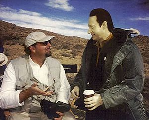 Star Trek: Nemesis - Glenn Cote and Brent Spiner on the set of Nemesis