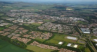 Glenrothes - Image: Glenrothes Aerial Picture