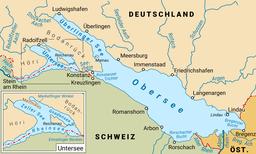 Gliederung des Bodensees