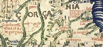 "Georgia (country) - ""Gorgania"" i.e. Georgia on Fra Mauro map"