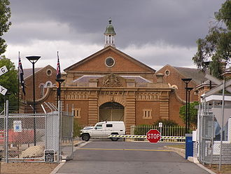 Goulburn Correctional Centre - The hand-carved sandstone gate and façade of the Goulburn Correctional Centre