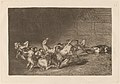 Goya - Dos grupos de picadores arrollados de seguida por un solo toro.jpg