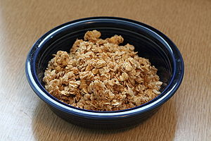 A bowl of granola.
