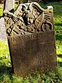 Gravestone for Joseph Wolfe Junior, died 1754, aged 24 - geograph.org.uk - 1691577.jpg