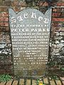 Gravestone of Peter Parks, Fort Canning Green, Singapore - 20160410.jpg