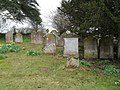Gravestones in the churchyard at Coates - geograph.org.uk - 1764184.jpg