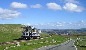 Transport in Wales - Great Orme Tramway in Llandudno on the Great Orme.