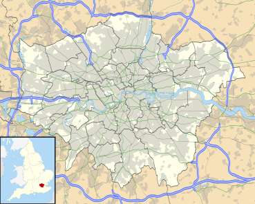 1914–15 Football League is located in Greater London