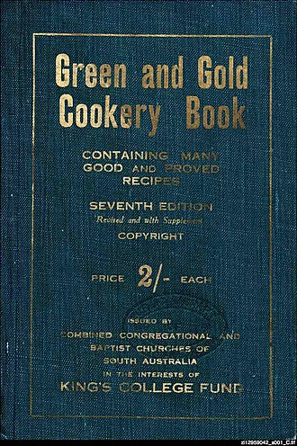 Pembroke School, Adelaide - Green and Gold Cookery Book, 1933 edition