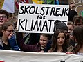 Greta Thunberg at the front banner of the FridaysForFuture demonstration Berlin 29-03-2019 06.jpg