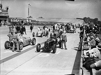 1934 Grand Prix season - Grid of the 1934 French Grand Prix, which was won by Louis Chiron.