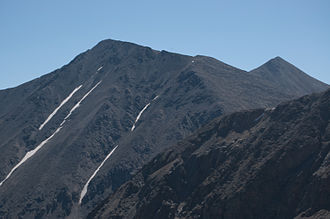 Grizzly Peak (Summit County, Colorado) - The north face of Grizzly Peak, seen from Clear Creek County