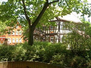 Groß-Gerau - Image: Groß Gerau Fachwerkhaus an der Stadtkirche