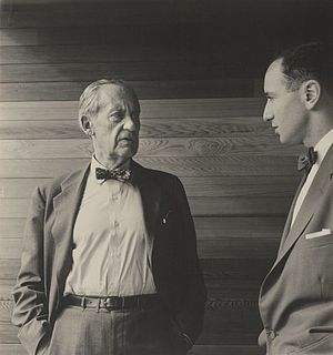 Harry Seidler - Harry Seidler (right) with Walter Gropius in Sydney 1954