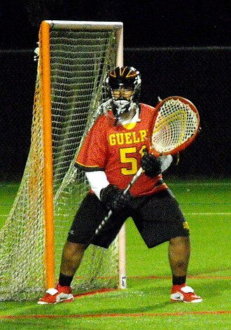 Canadian University Field Lacrosse Association - Guelph goalie in 2014.