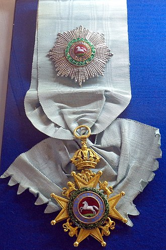 Royal Guelphic Order - Grand cross and sash of the Royal Guelphic ORder