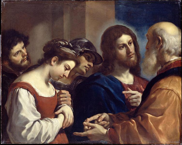 File:Guercino - The Woman taken in Adultery - Google Art Project.jpg