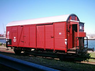 """Goods wagons of welded construction - Covered wagon of the """"Gs Oppeln"""" class"""