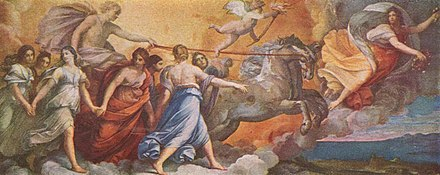 Apollo accompanied by the Horae (hours) and Aurora, by Guido Reni Guido Reni 008.jpg