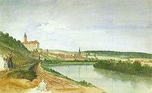 Ludwig Neureuther: Gundelsheim mit Schloss Horneck (Quelle: Wikimedia)