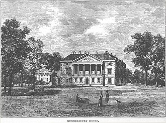 Gunnersbury Park - The original Gunnersbury House around 1750.