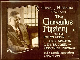Race film - Lobby card for The Gunsaulus Mystery (1921)