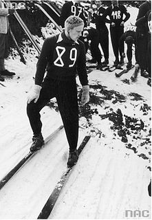 Gustl Berauer Czechoslovak Nordic combined skier