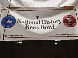 National History Bee and Bowl - A banner with the logo of History Bowl.