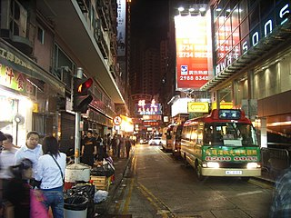 Jardines Bazaar road located in Causeway Bay, Hong Kong