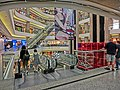 HK night 銅鑼灣 mall 香港時代廣場 Times Square escalators n visitors Causeway Bay Mar-2013.JPG