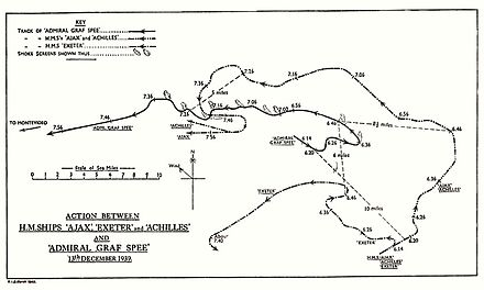 HMSO chart of the engagement HMSO Graf Spee battle map.jpg
