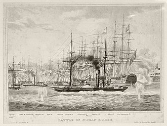 Oriental Crisis of 1840 - HMS Phoenix in the bombardment of Acre, 1840