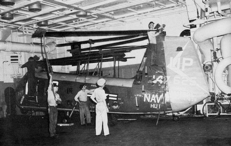File:HUP-3 of HU-1 in hangar of USS Oriskany (CVA-34) 1962.jpg