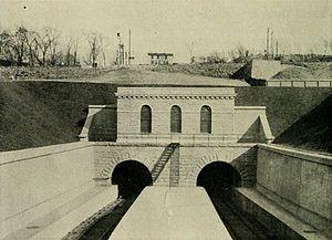 North River Tunnels - The Hackensack portals, 1910