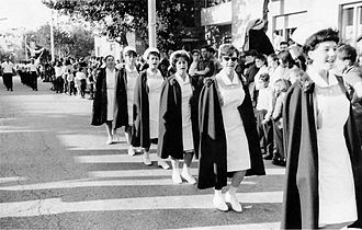 Hadassah Medical Center - Hadassah nurses parade in Jerusalem, 1965