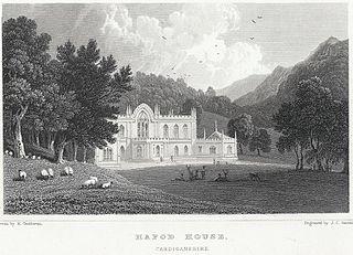 Hafod House, Cardiganshire