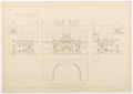 Hallwylska palatsets fasad och fondparti 1897 - Hallwylska museet - 101112.tif