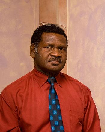 English: Prime Minister Ham Lini of Vanuatu