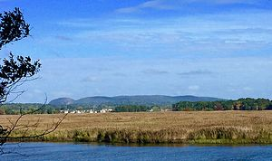 Hamden, Connecticut - Hamden Connecticut's Sleeping Giant Mountain from the Quinnipiac river.