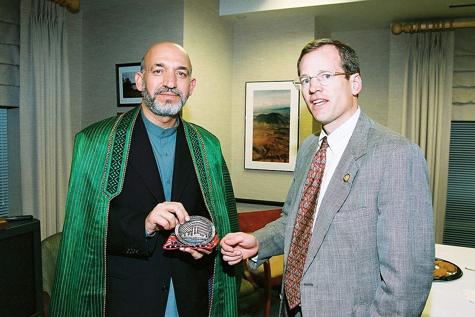 Hamid Karzai with Jack Kingston