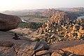 Hampi, India, Rocky landscape of Hampi, Granite rocks of Matanga Hill.jpg