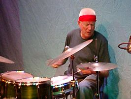 Han Bennink in New York City, oktober 2006