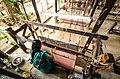 Handloom weaver in Maheshwar fort, Khargone district, Madhya Pradesh.jpg