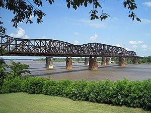 Harahan Bridge - Harahan Bridge from Martyrs Park