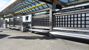 Harbor Gateway Transit Center - Improved signage installed at the Harbor Gateway Transit Center.
